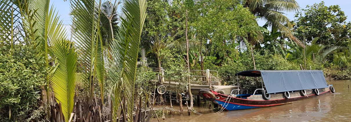 Boat at the river Mekong