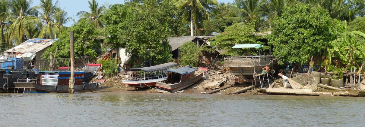 Mekong River scenery Vietnam