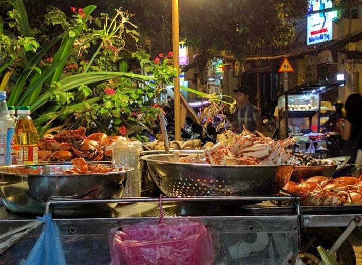 Street Food by night Saigon