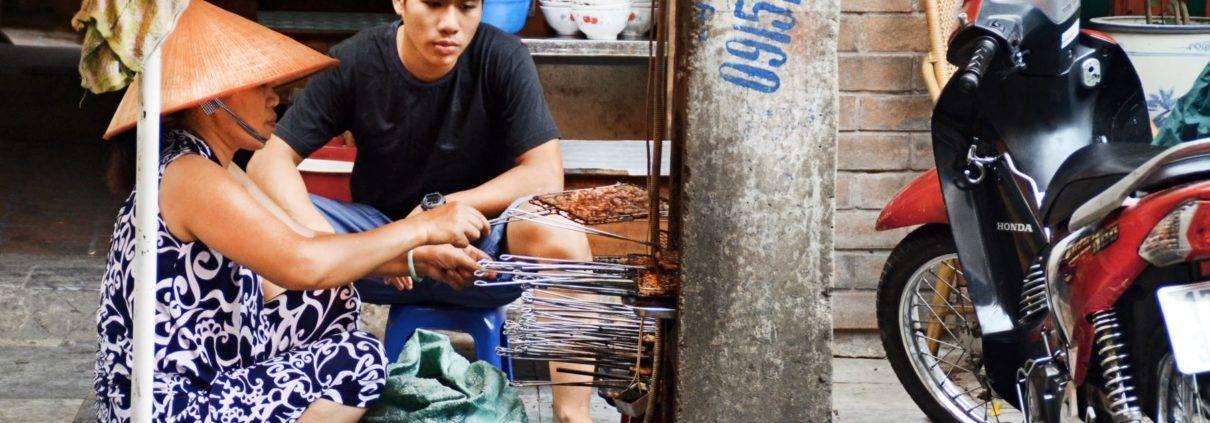 Street barbecue Ho Chi Minh City