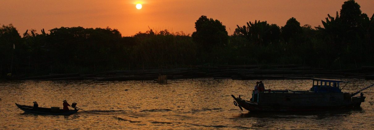 Sunset at Mekong Delta Vietnam
