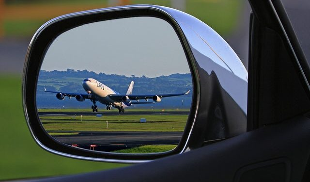 Airplane take off runway