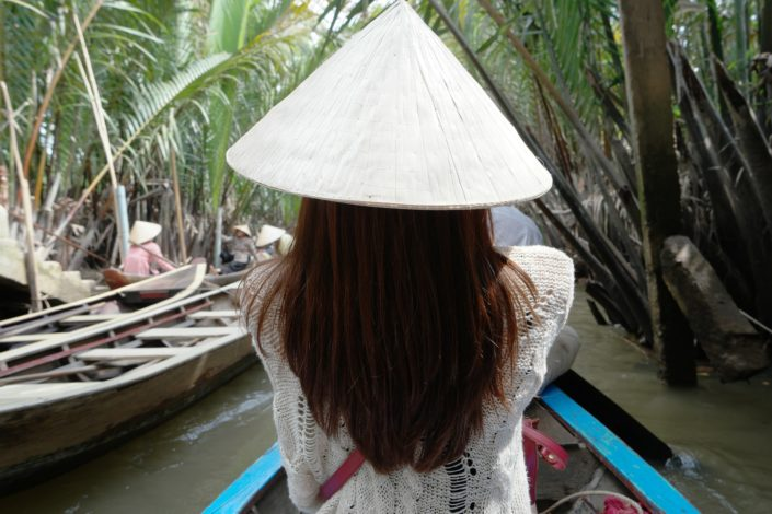Lady at Rowing Boat Vietnam
