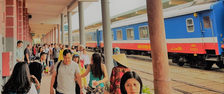 Bahnsteig in Hue
