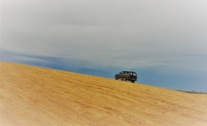 Car at the dune
