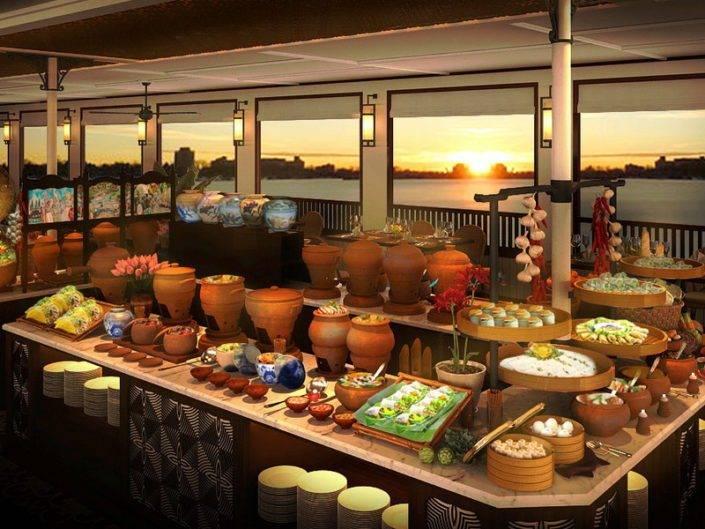 Bon Sai Dinner cruise buffet