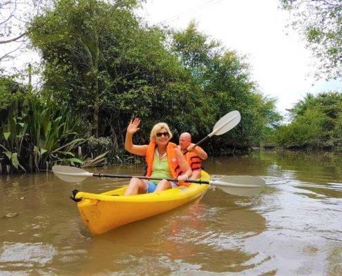 Kayaking at Vinh Long