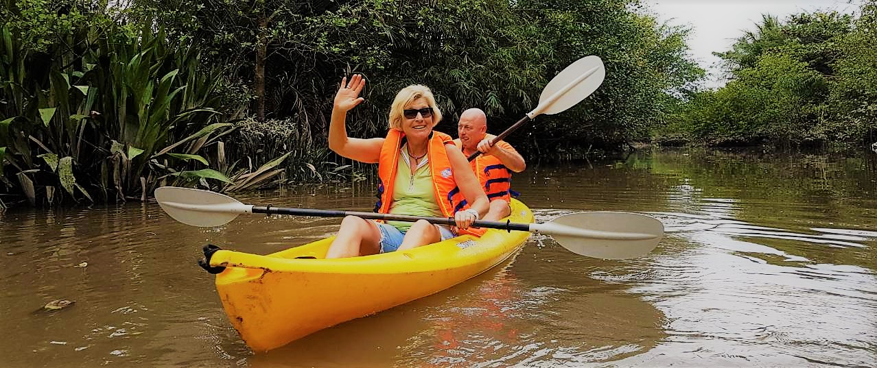 Kayaking at Vinh Long