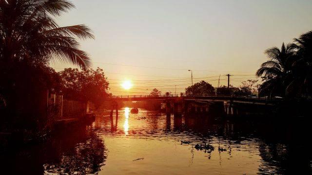 Sunrise at Mekong Delta