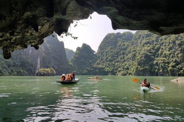 Kayaking at Halong Bay