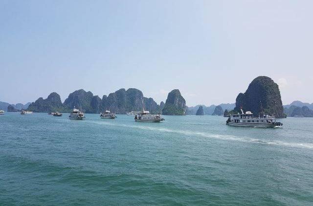 Boats at Halong Bay