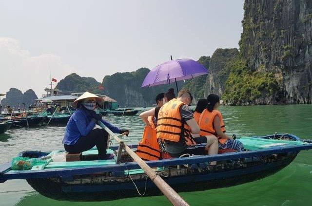 Rowing at Halong Bay