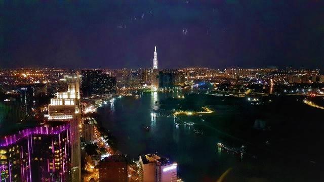 City view Saigon by night